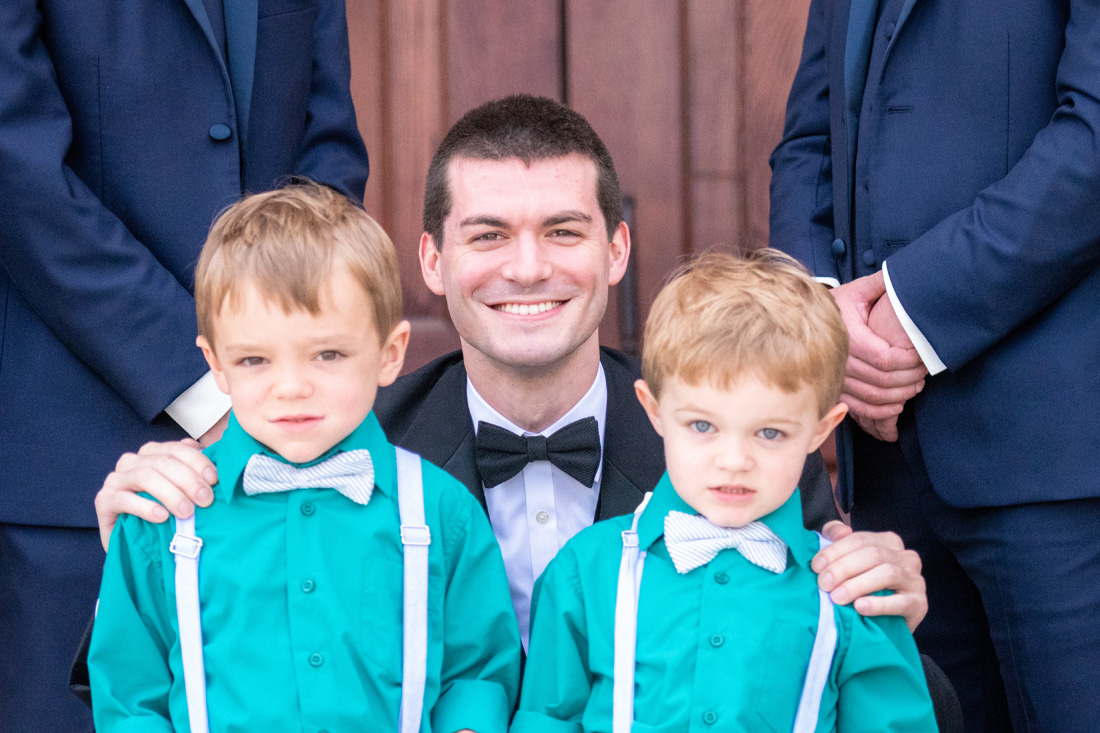 Tyler with cute as ever ring bearers