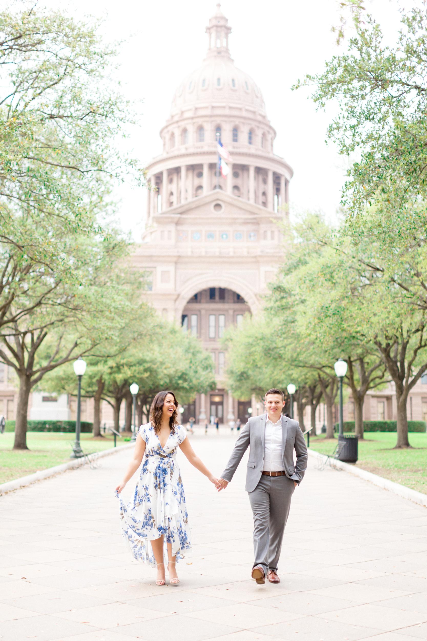 San Antonio Austin Tx Texas Hill Country Wedding Engagement Anniversary Photographer Engagement Anniversary Photo Session Pictures Texas Capitol session UT Campus session Austin skyline session