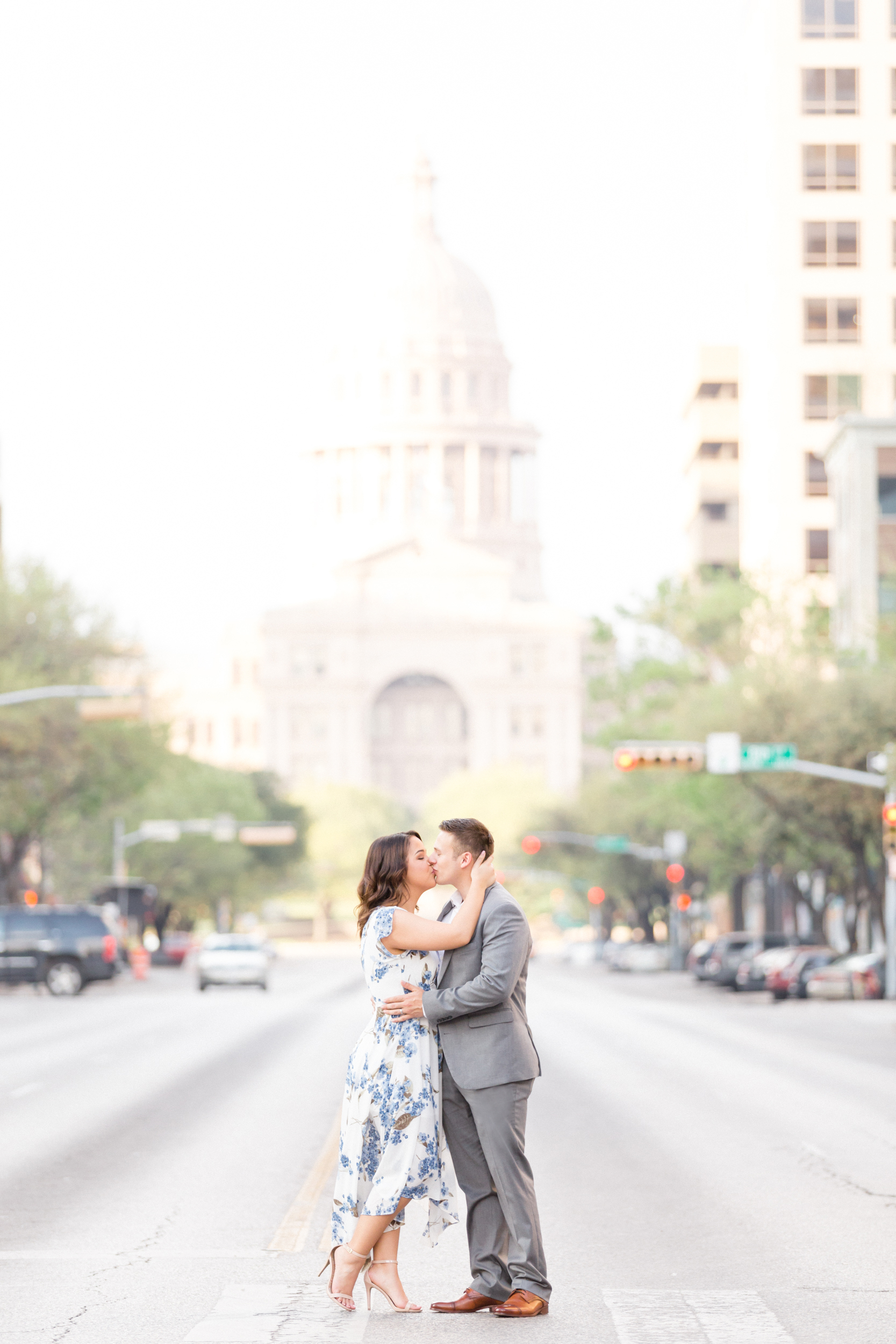 San Antonio Austin Tx Texas Hill Country Wedding Engagement Anniversary Photographer Engagement Anniversary Photo Session Pictures Texas Capitol session UT Campus session Austin skyline session