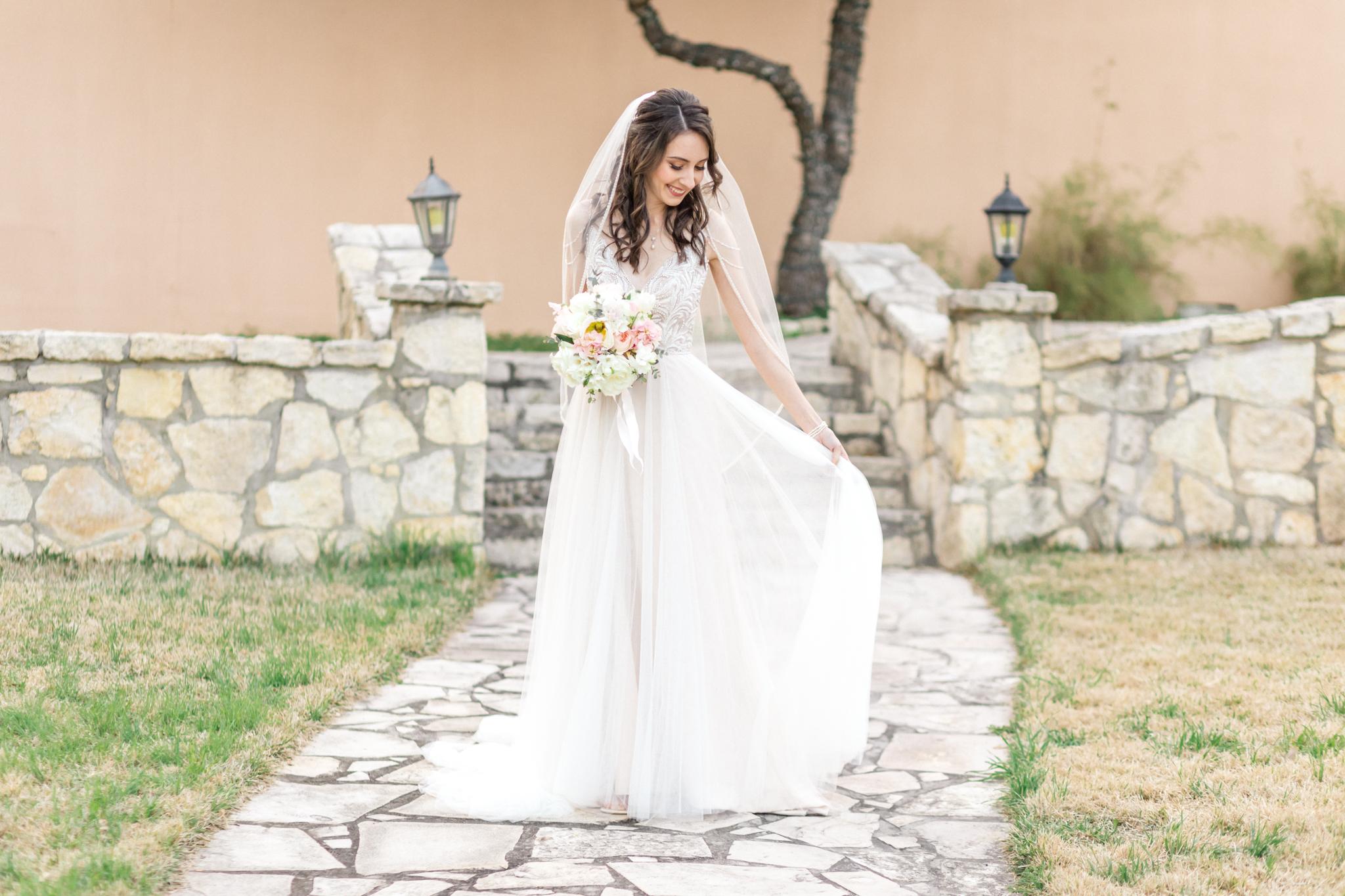 San Antonio Helotes Boerne Fredericksburg Austin Texas hill country Wedding Engagement Photographer bridal session bridal photos San Antonio bride bridals Scenic Springs wedding venue