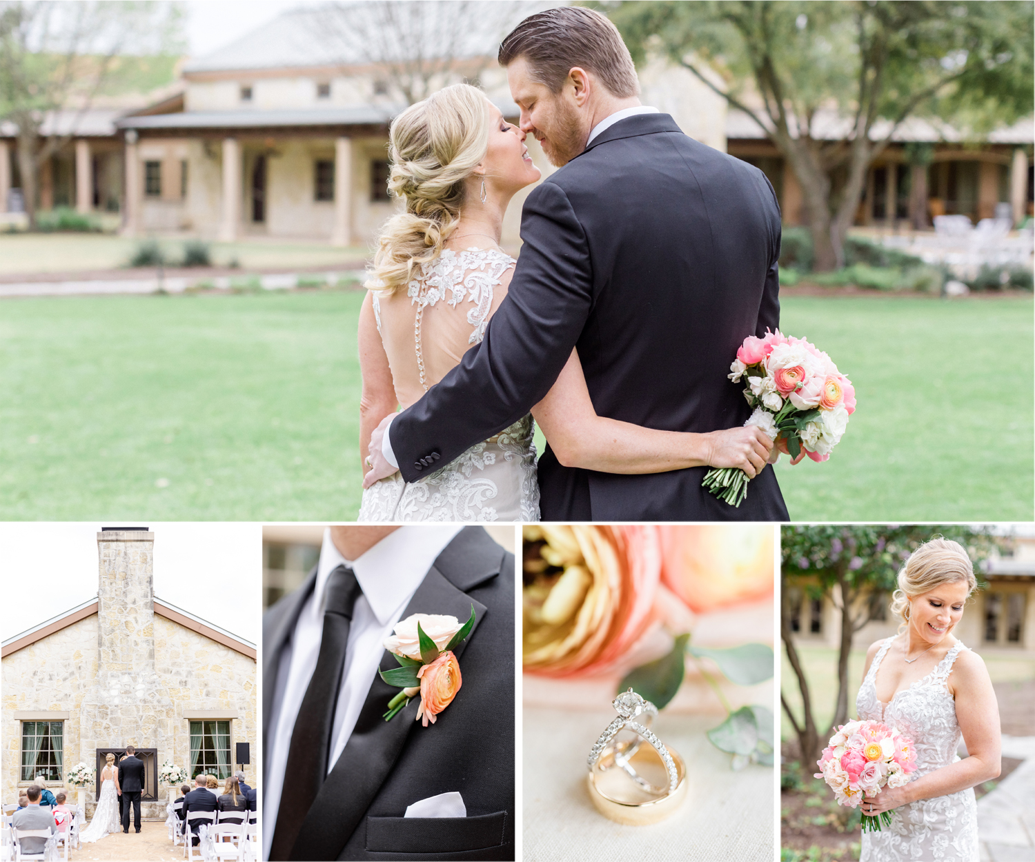 San Antonio Austin Boerne New Braunfels Texas Wedding Engagement Photographer Photography Hill Country Texas JW Marriott Sunday House Wedding Spring Wedding Coral Pink Intimate Wedding San Antonio Austin Texas photographer