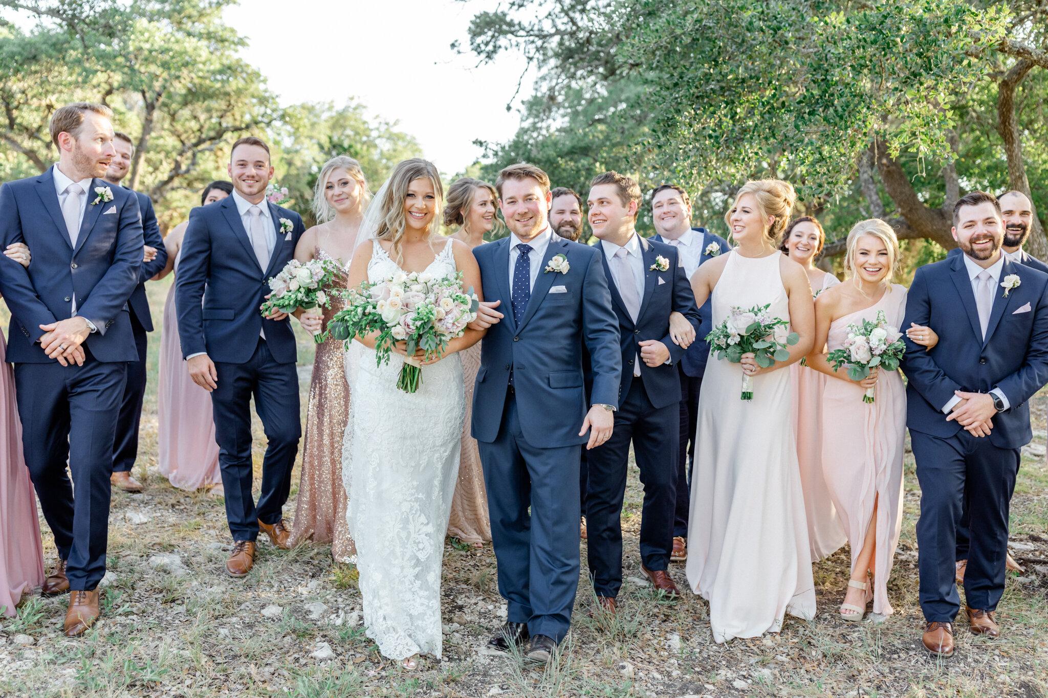 San Antonio Austin Boerne New Braunfels Spring Branch Texas Wedding Engagement Photographer Photography Hill Country Texas Park 31 Wedding Summer Wedding Pink Navy Gold Elegant Chic Wedding San Antonio Austin Texas photographer 69