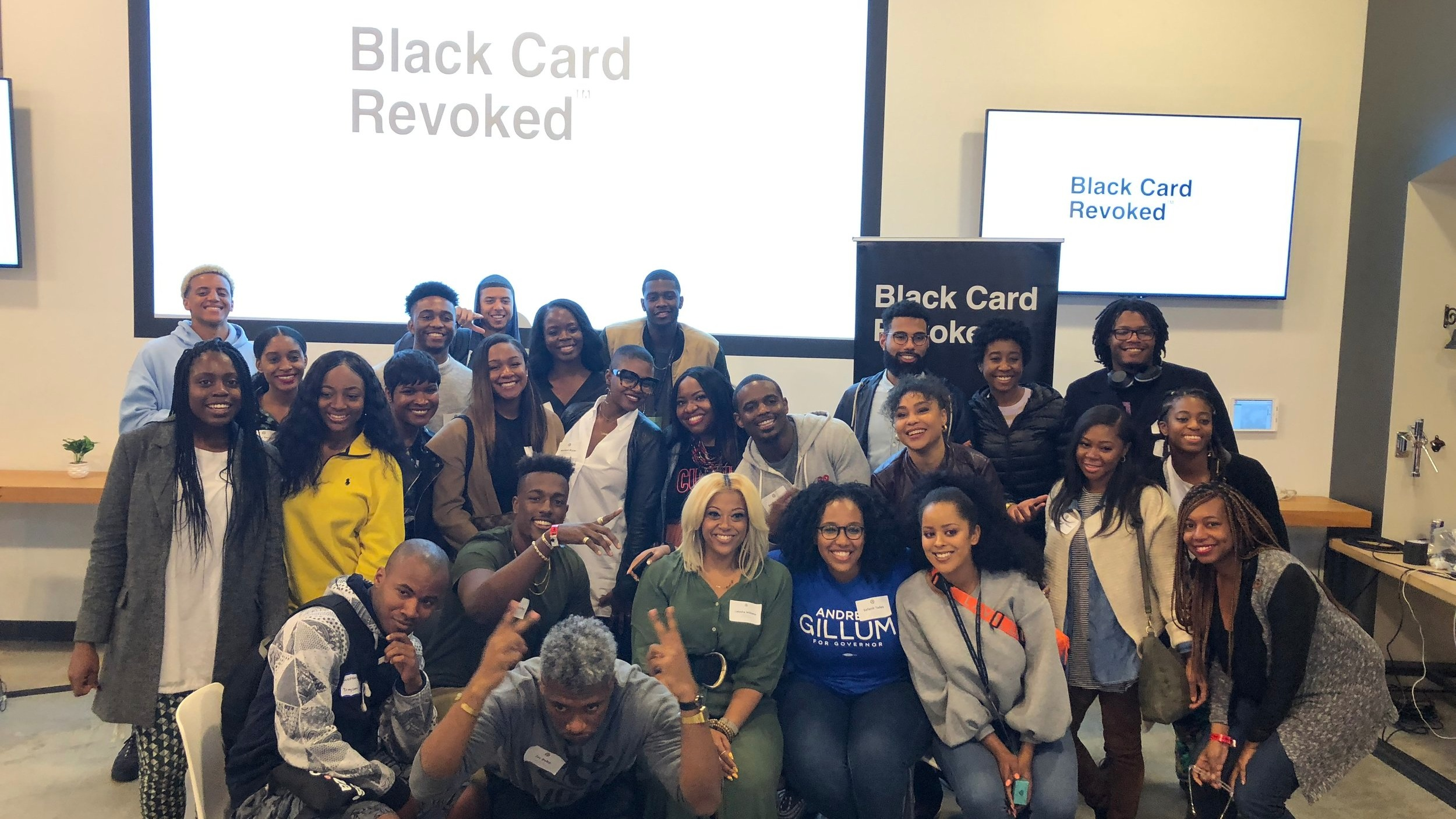 What's better than a game of Black Card Revoked for a room full of Black folks? Nothing fun and all laughs at Pinterest Palooza Afrotech 2018 Happy Hour