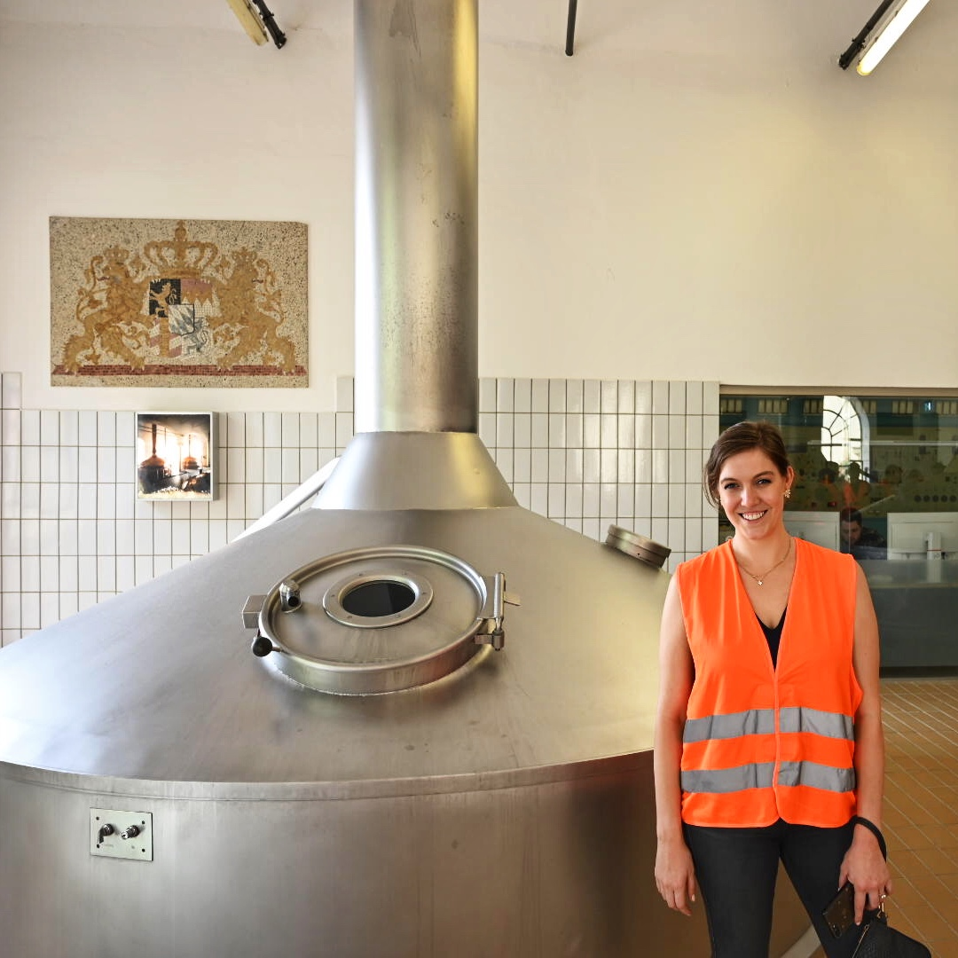 Couldn't help but pose with the boil kettle…I am a tourist after all!