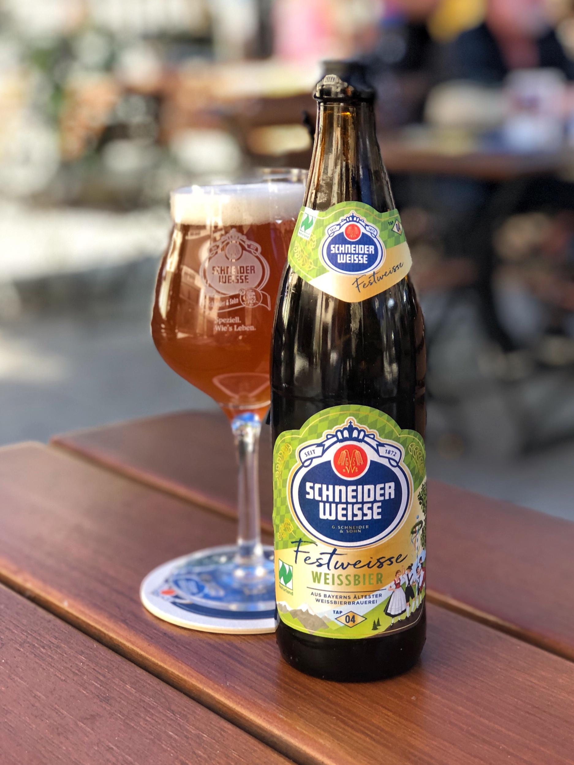 Schneider Festweisse - a beer I haven't seen in the U.S.