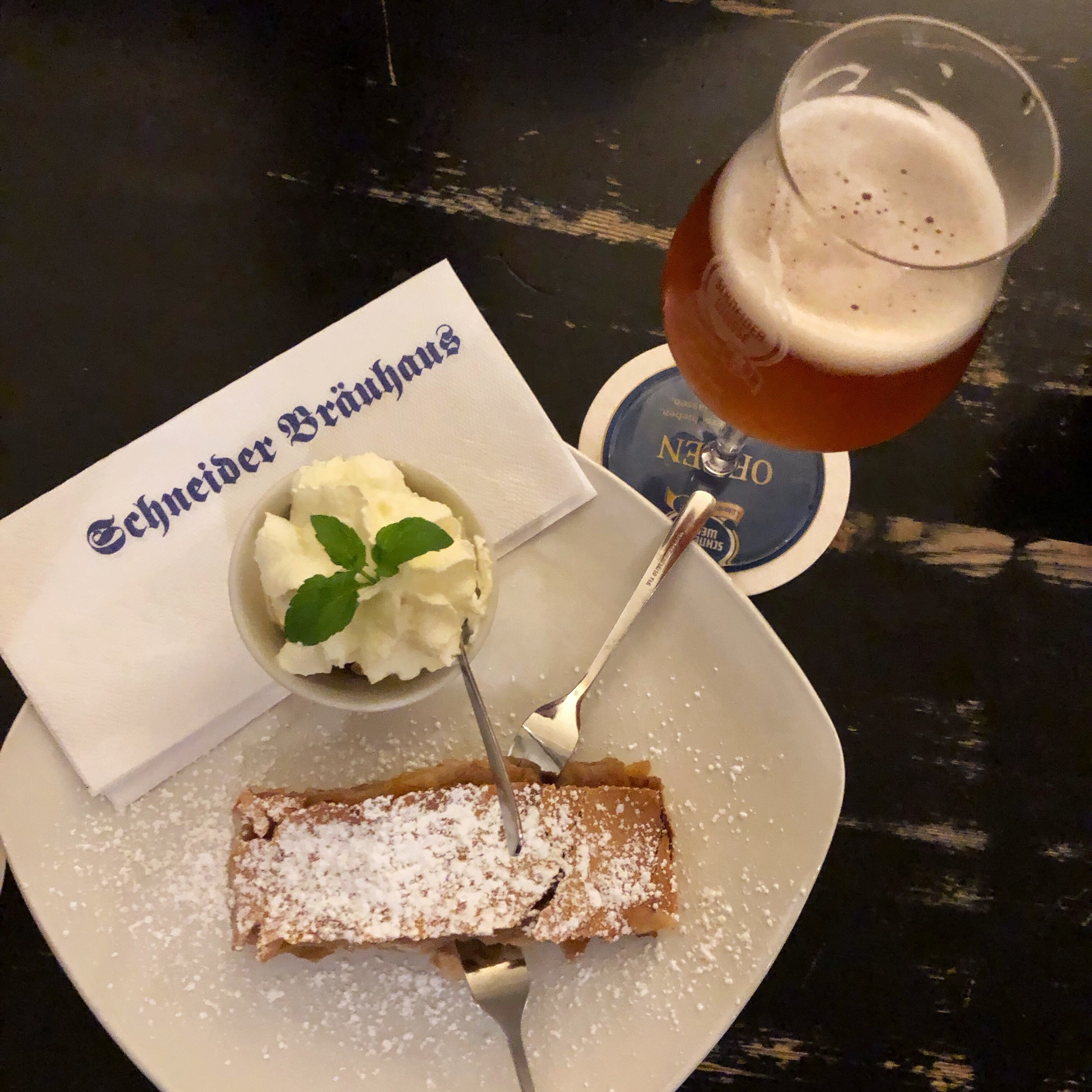 This is the apple strudel dreams are made of (with a side of Nelson Sauvin beer on the side!)