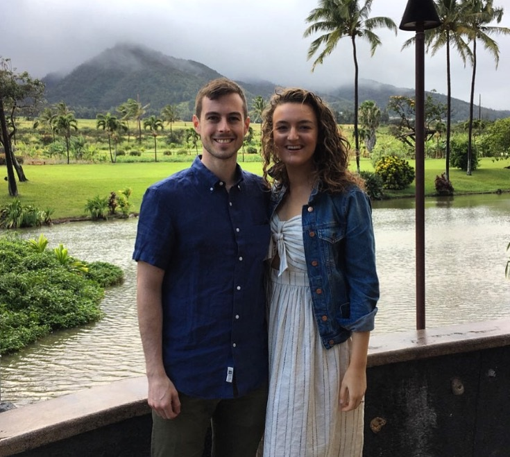 The author and his wife, Maeve, at the Mill House, Maui.