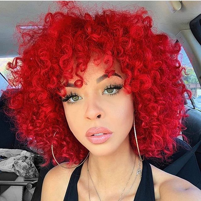 Bright red❤️❤️❤️ who would try this look???