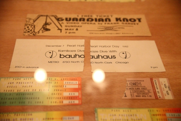 Tapes & tickets from the Malachi Ritscher Collection