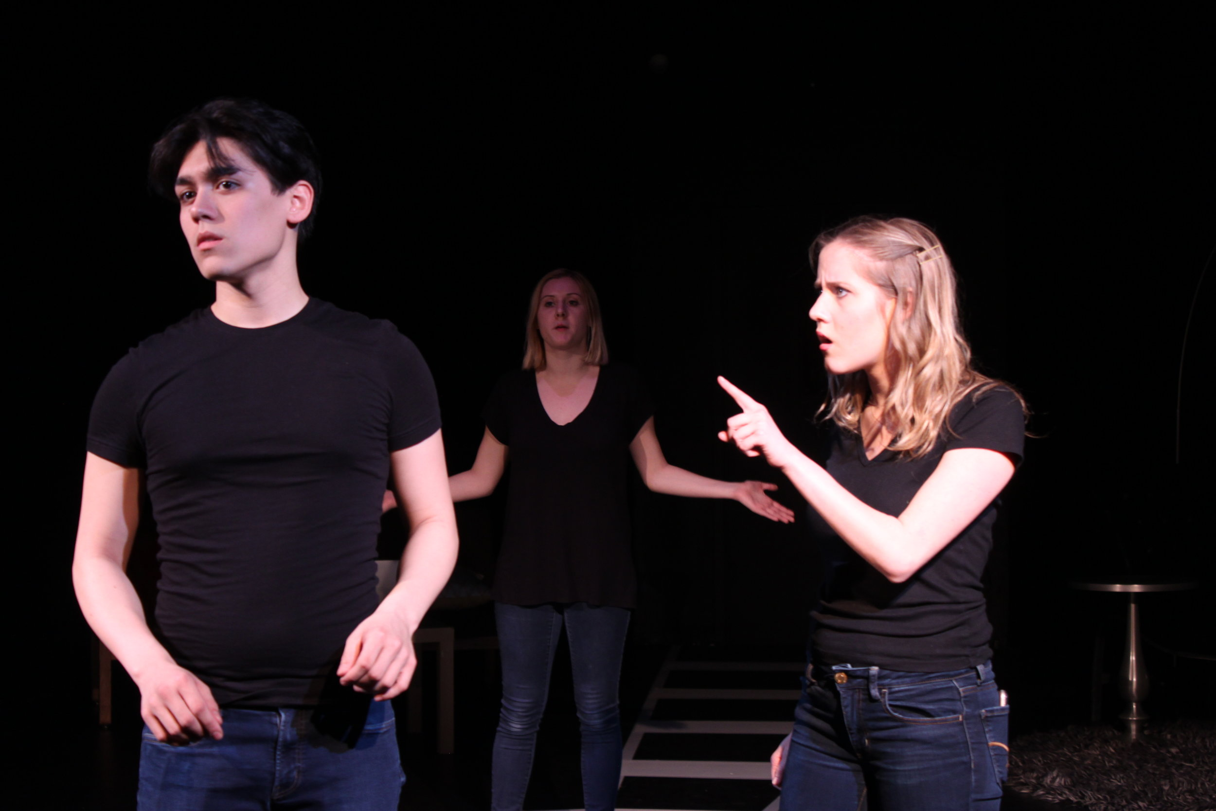Left to right:  Adam Lokken , Hannah Beebe,  Vassileia Kazee