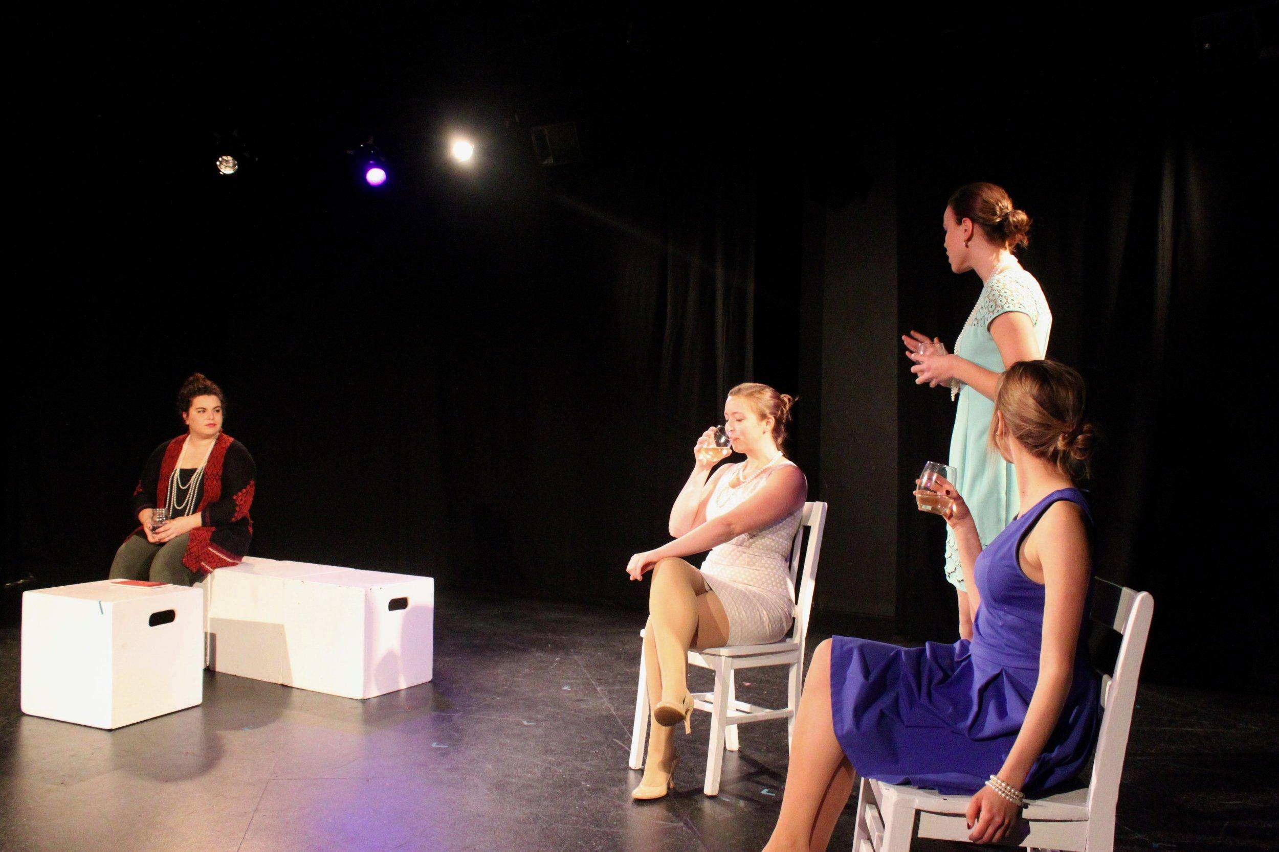 Left to right: Lydia Utter,  Taylor Beidler , Isabel Schnall,  Vassileia Kazee