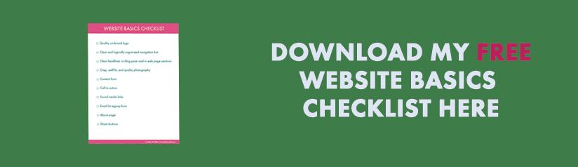 website basics checklist