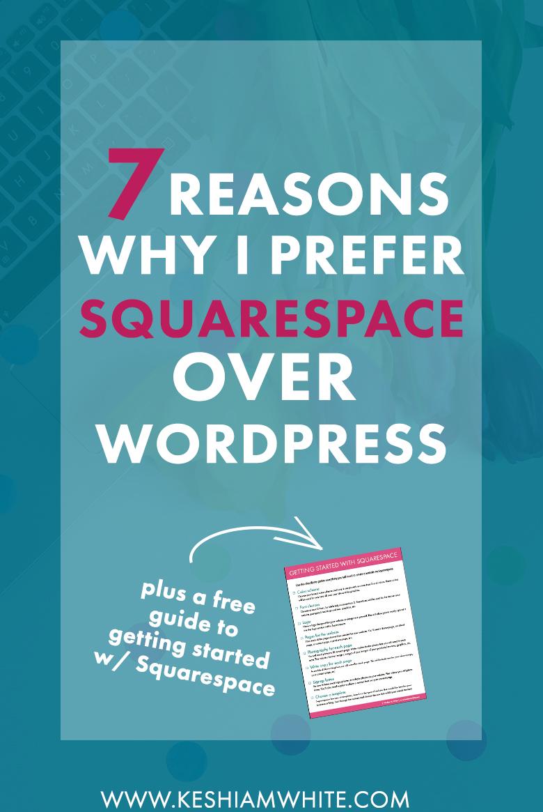 why I prefer squarespace over wordpress