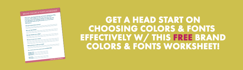 choosing brand colors and fonts