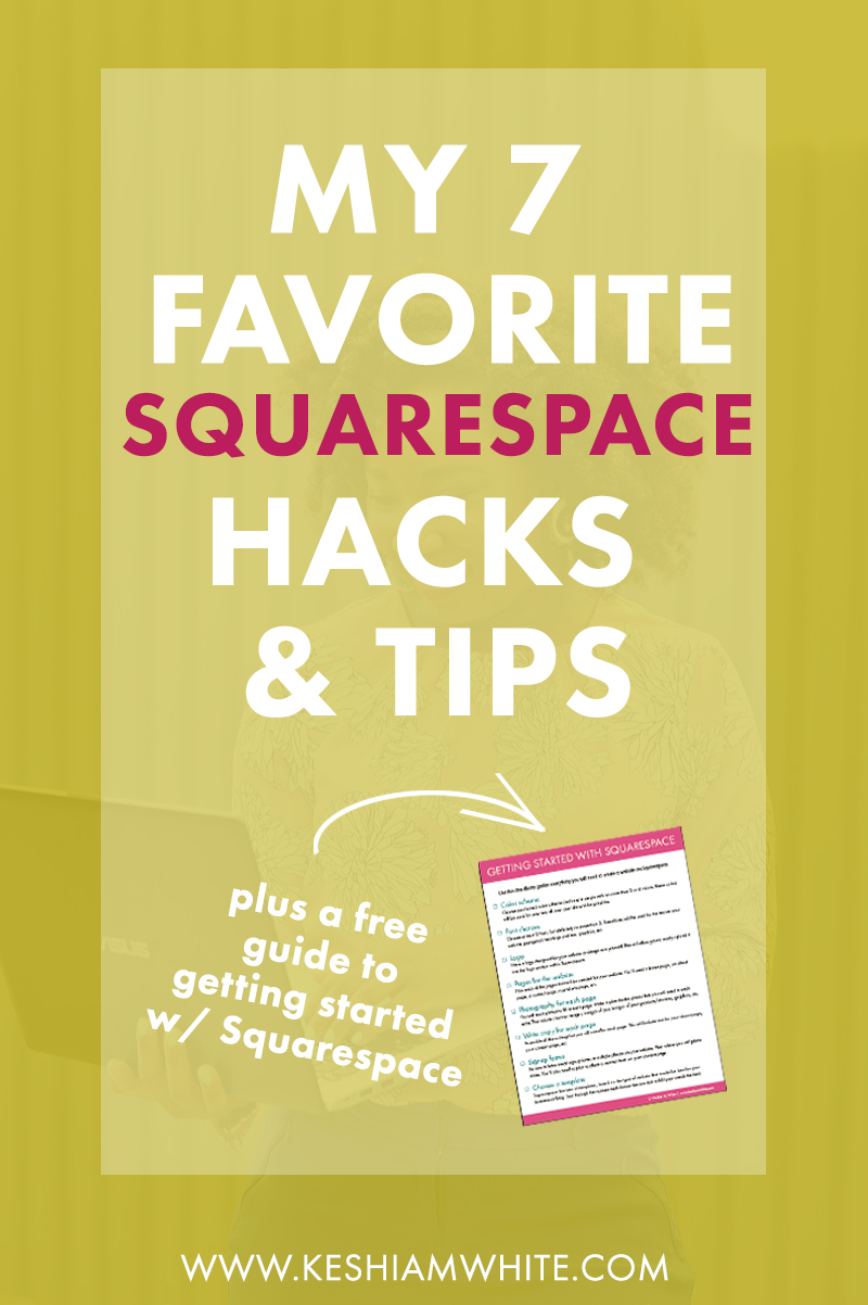 My Favorite Squarespace Hacks