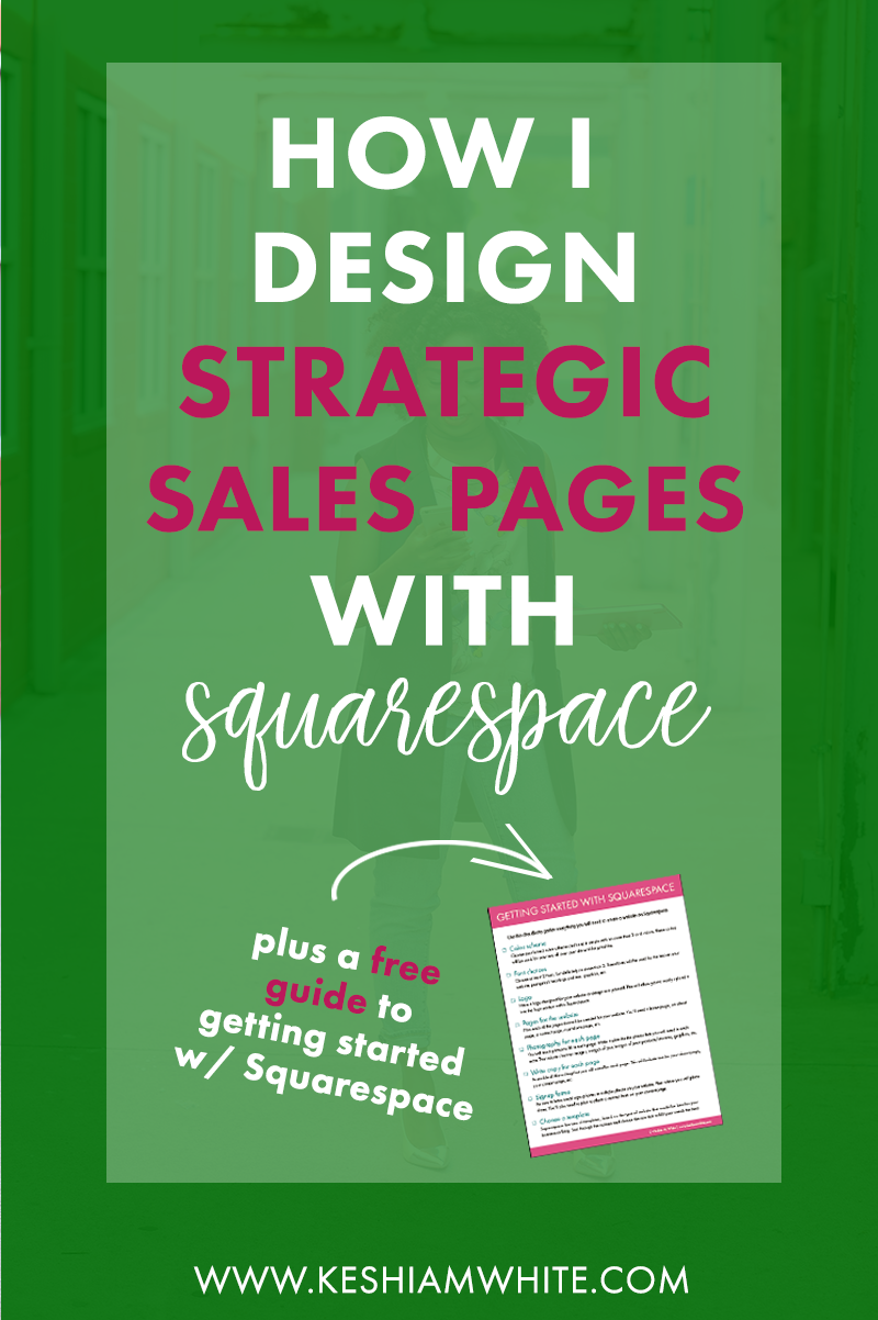 How I Design Strategic Sales Pages in Squarespace