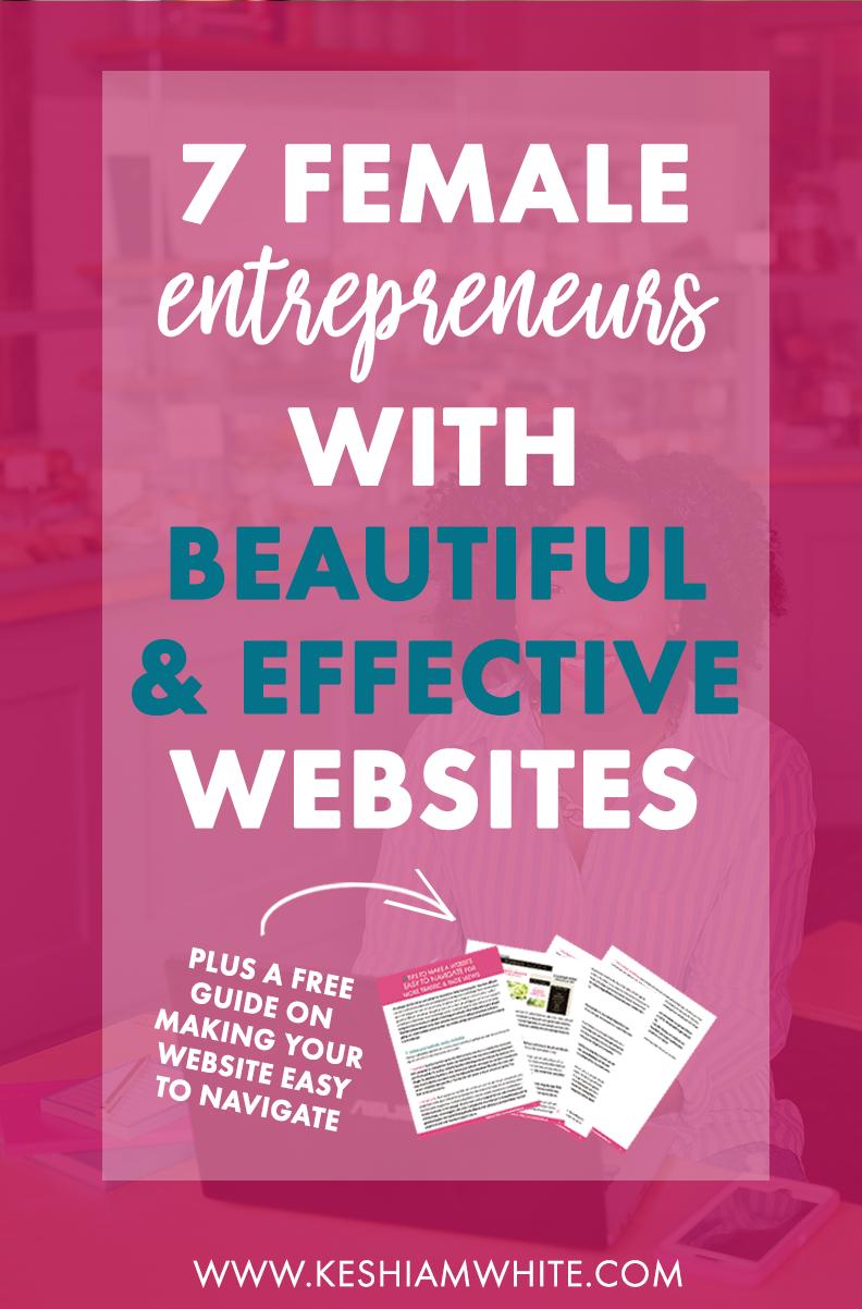 Female Entrepreneurs with Beautiful Websites