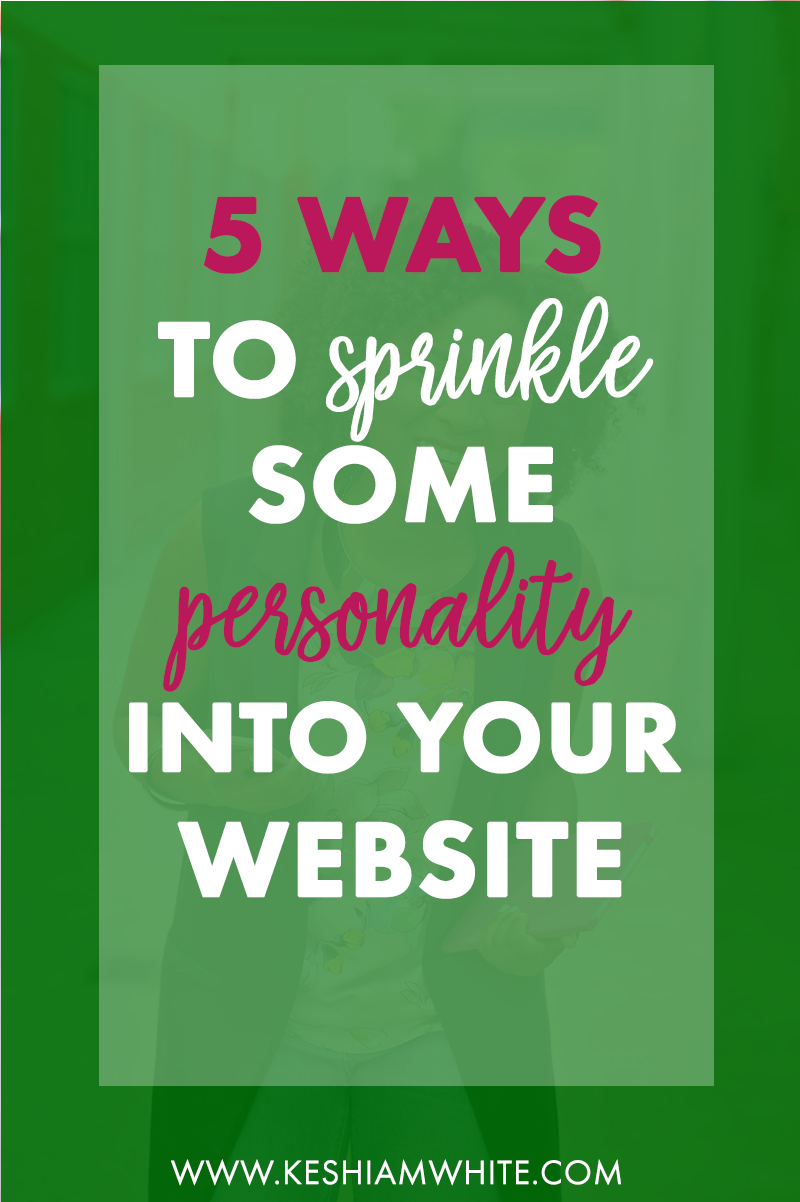 How to Add Personality to Website