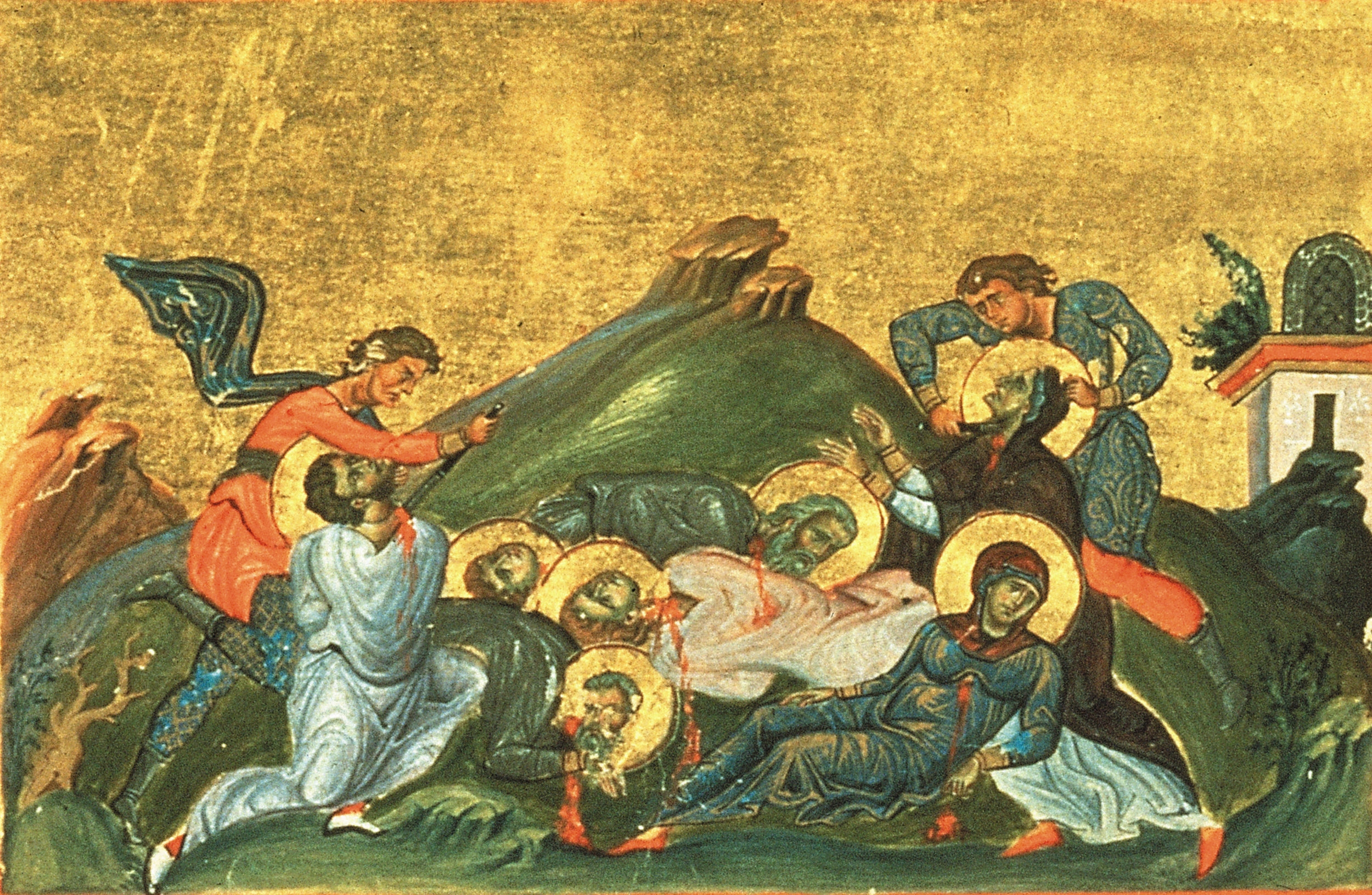 Perpetua,_Felicitas,_Revocatus,_Saturninus_and_Secundulus_(Menologion_of_Basil_II).jpg