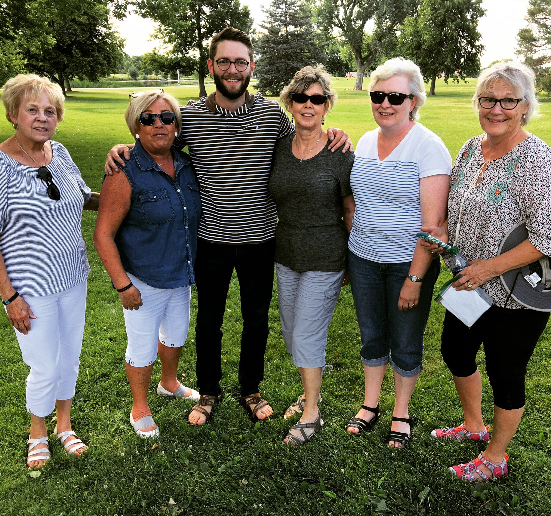 A WMU Team (Women's Mission Union of the Southern Baptist Convention) who prayer walked Garland Park
