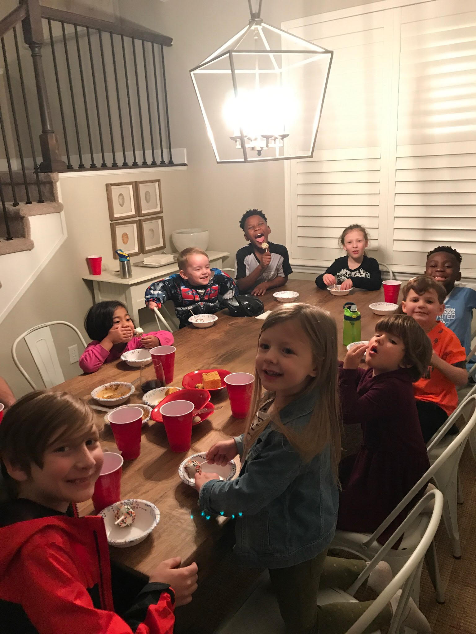 Our kiddos enjoying dessert at our 1st Annual Thanksgiving Feast