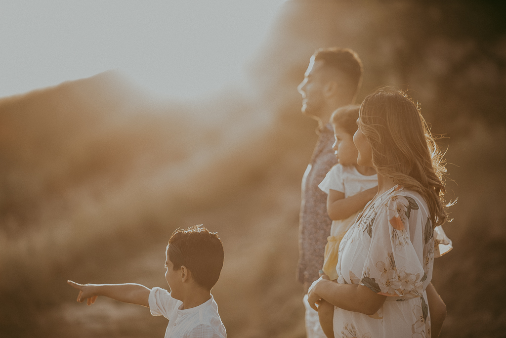 Family sunset session in the Hills of Walnut Creek, California