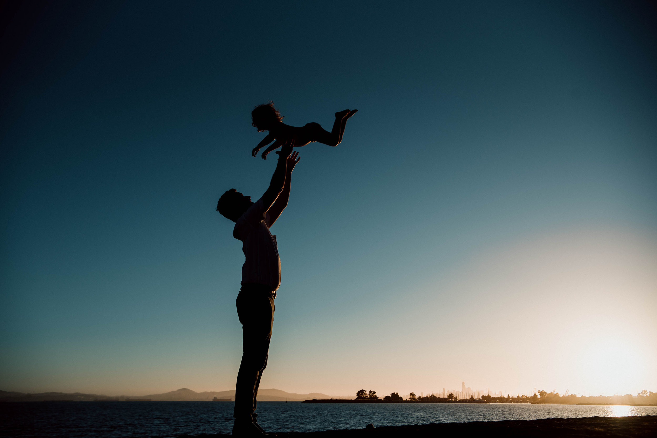 Dad and Daughter during a maternity session in Alameda, California