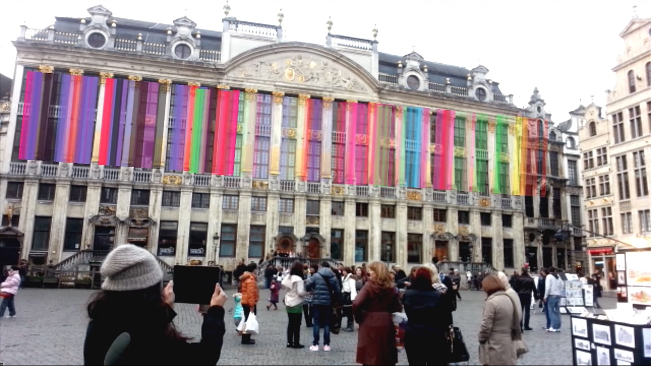 AR Art Projected on the House of the Dukes of Brabant - Brussels' Grand Place, named by UNESCO as a World Heritage Site in 1998. House of the Dukes of Brabant (French: Maison des Ducs de Brabant, Dutch: Hertogen van Brabant), is a set of seven houses grouped behind the same monumental facade designed by Guillaume de Bruyn and modified in 1770, so called because of the busts of the Dukes of Brabant which adorn it. It was restored between 1881 and 1890.HEAVY's art art adorning the facade uses feature tracking of the architecture itself.