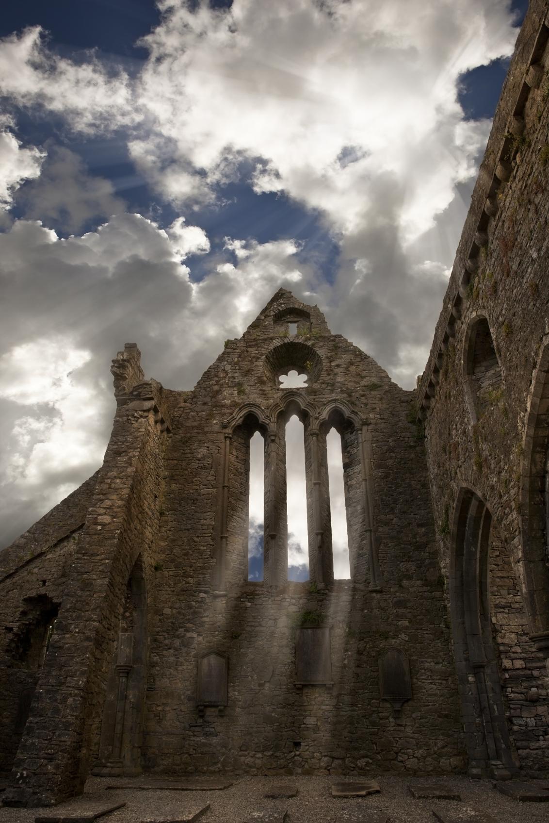 Medieval Irish church ruin