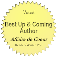 Voted Best Up and Coming Author