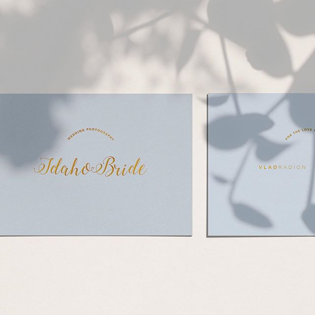 Had so much fun with this branding project for @idahobride - an Idaho based wedding photography company. 👰🏼📸 Notice the heart that connects Idaho and Bride? (See second slide). It's the small details that really can set you and your brand apart from everyone else. 💘