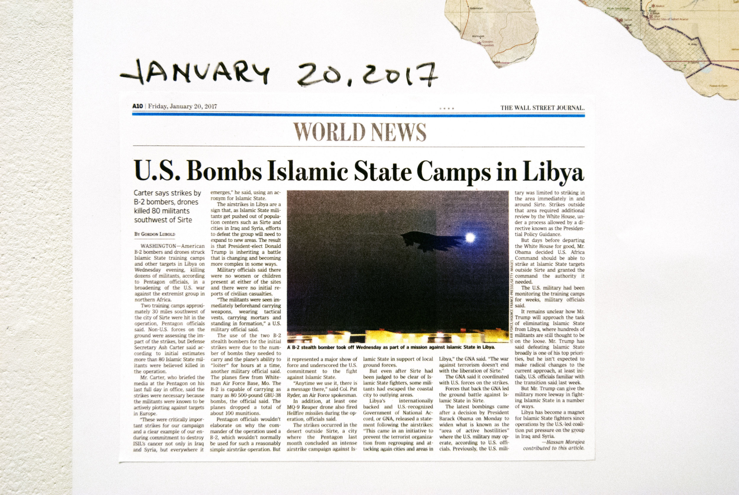 The WSJ news article, describing an attack from the stealth-bomber airbase in Missouri. The flight price alone was $4.4 M. The 100 bombs dropped cost ca. $1.4 M. Drones as well push the cost of the strike to $6 M. 80 ISIS soldiers were reportedly killed. The cost of each soldier killed is ca. $75,000. Very likely, using aircraft from an aircraft-carrier battle group would be more costly. Also, more risky, given that the SAM-5 missiles have worked against US aircraft over Libya. Further, with internet and monitoring tactics on shore, people opposed to US presence in the Mediterranean could readily expose any aircraft-carrier battle group. Iran has developed speed-boat swarms for attacking and sinking such large ships, much like what the Venetian gondolas, with their bow-blades, were able to do against giant Turkish warships.
