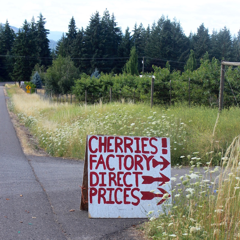 A small family orchard about 10 miles down the hill from my place uses a sense of humor in their marketing.