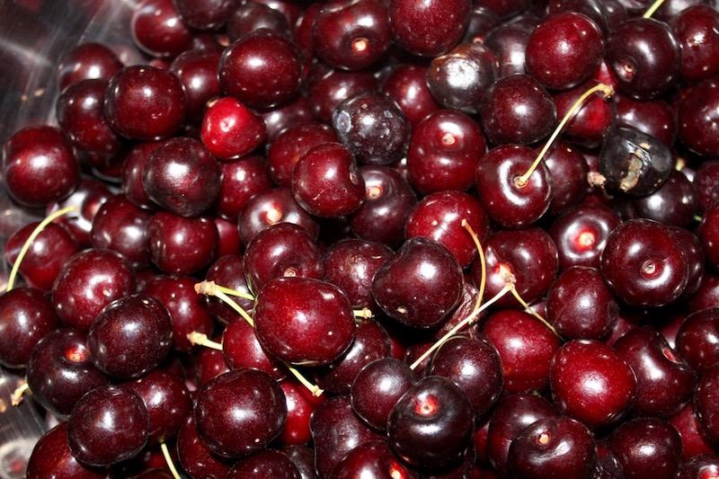 15 lbs of dark red Bings & 5 lbs of Rainier cherries