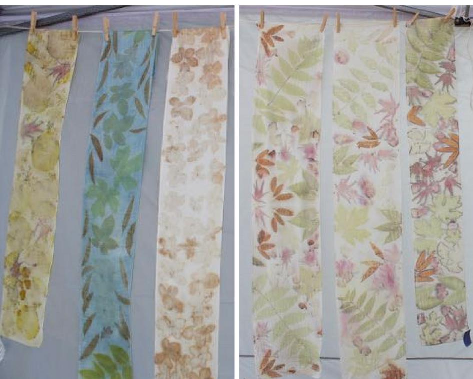 Sample scarves by Kathy