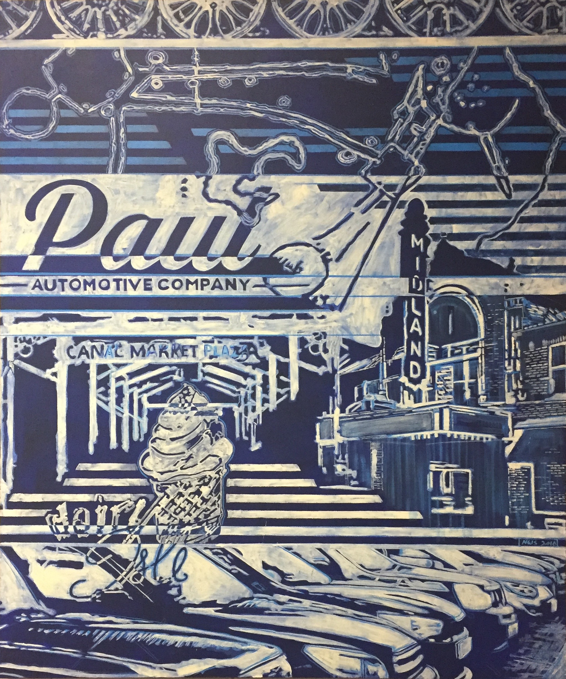 "Paul Automotive  | acrylic on canvas | 57"" x 46"" 