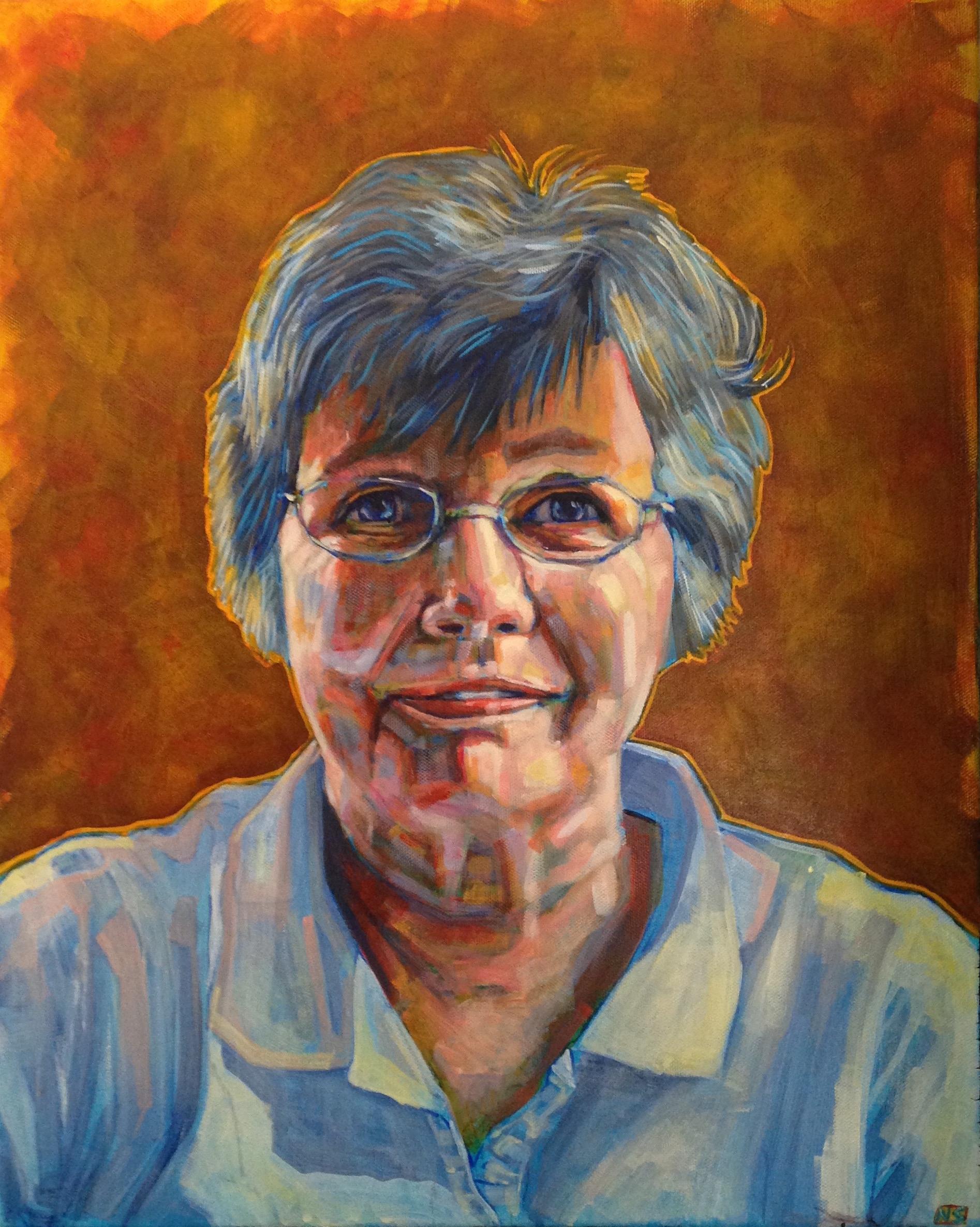 "Edie  | acrylic on canvas | 24"" x 18"""