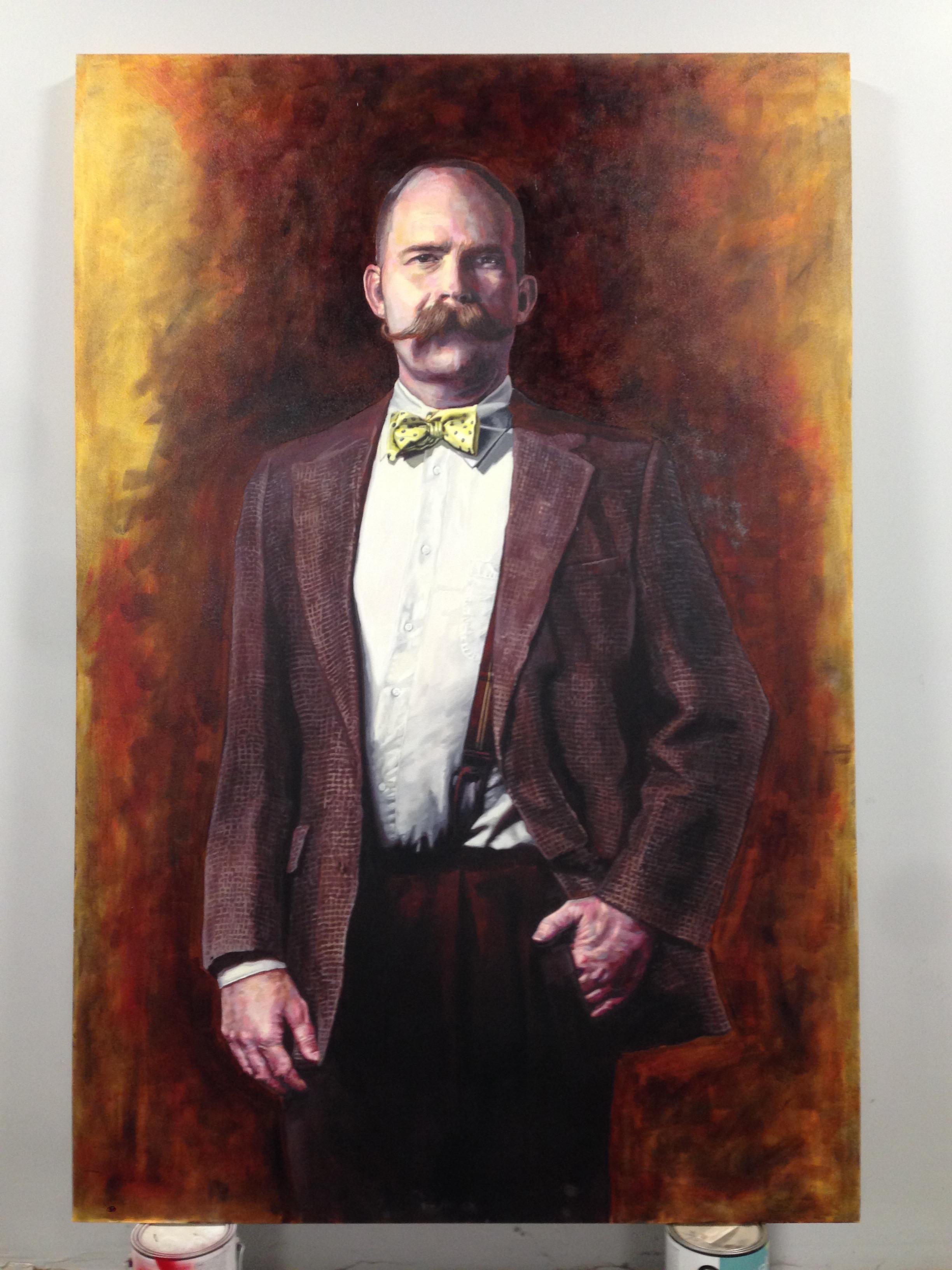 "Frank Duveneck | oil on canvas | 72"" x 60"" | commission for Commonwealth Bistro | Covington, Ky"