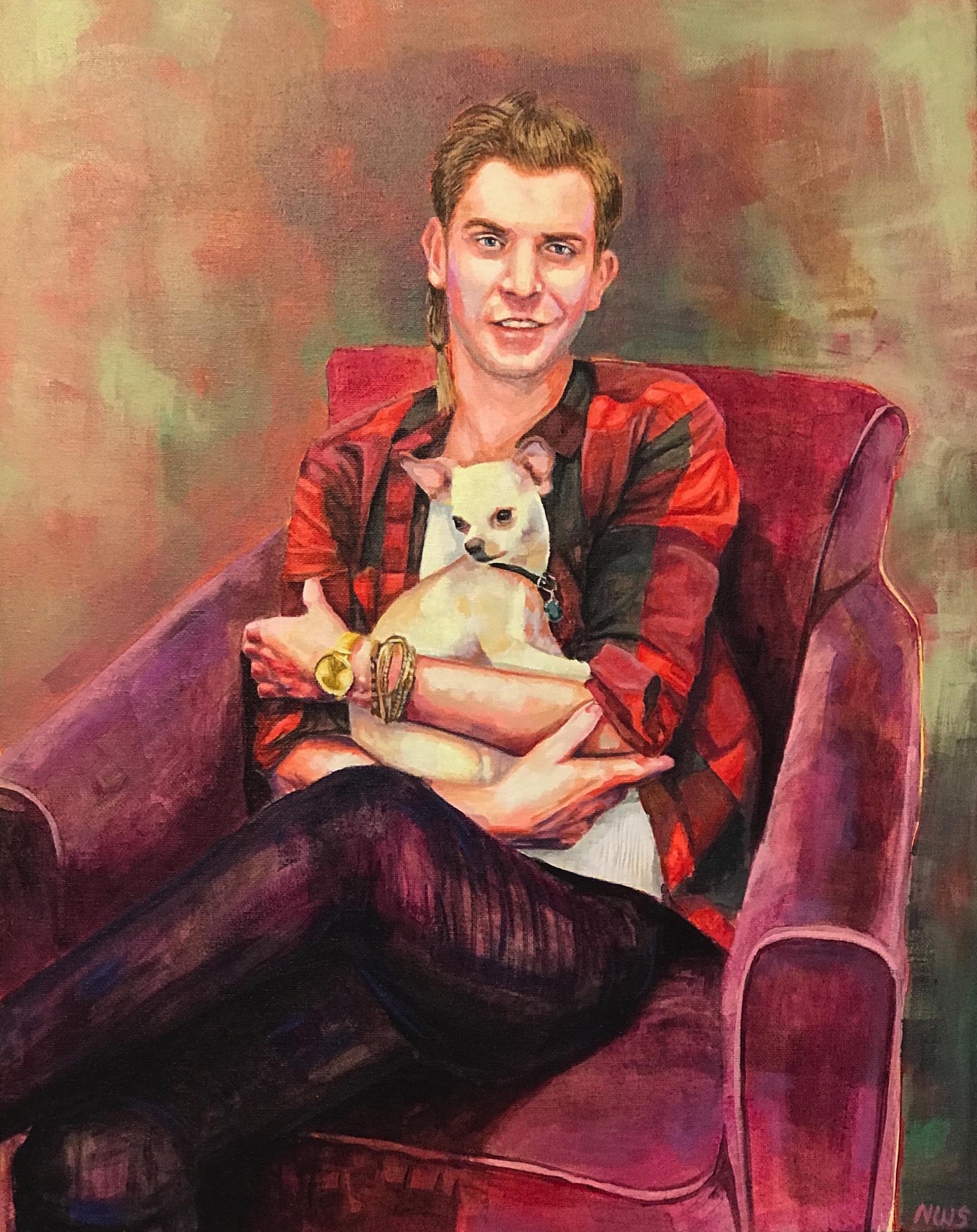 "Garrett  | acrylic on canvas | 20"" x 16"""