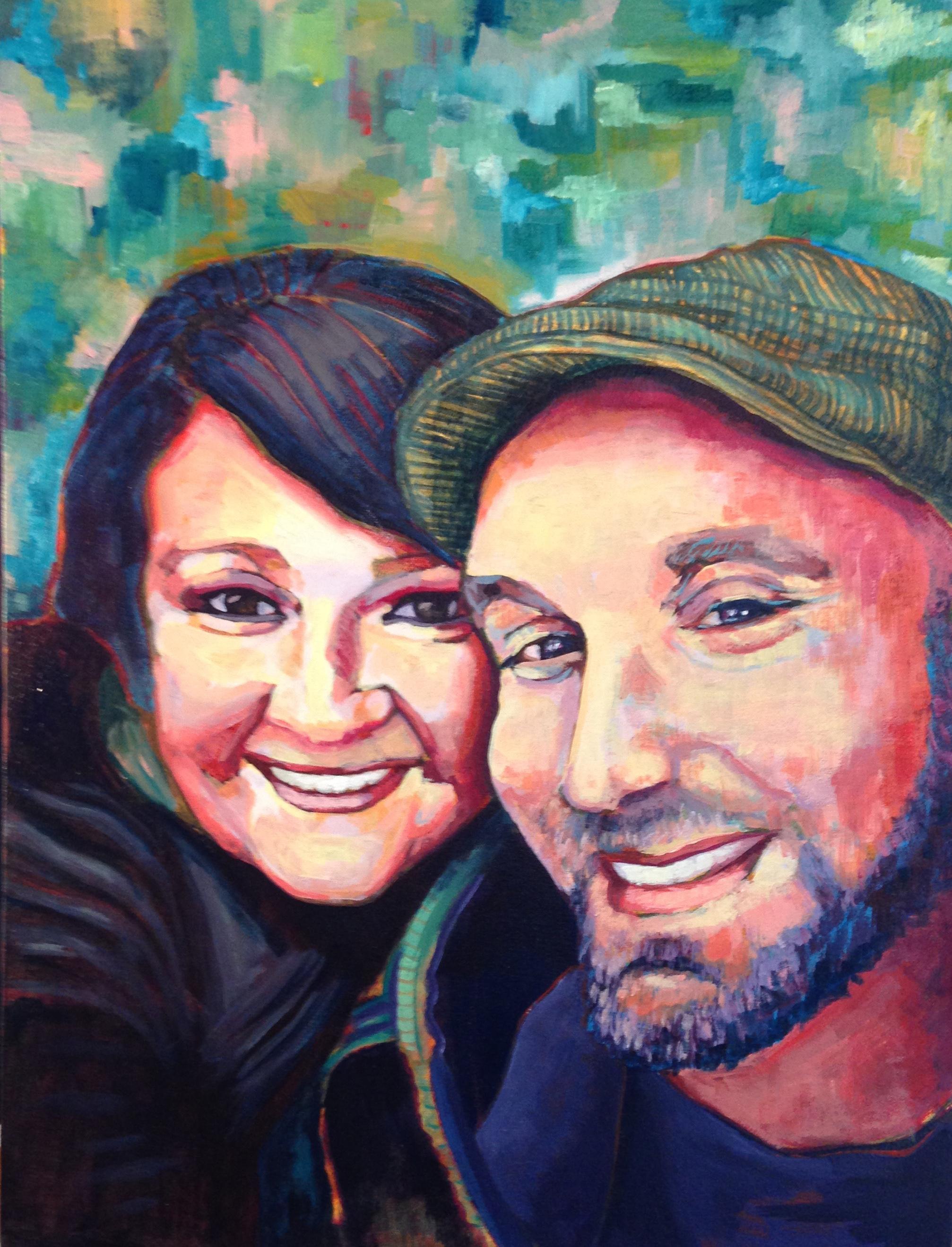 "Andrea and Mario | acrylic on canvas | 24"" x 18"""