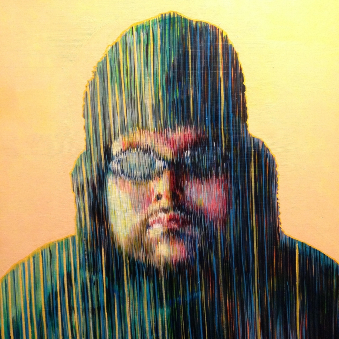 """Chris in the Storm #1   acrylic on panel   30"""" x 30"""""""