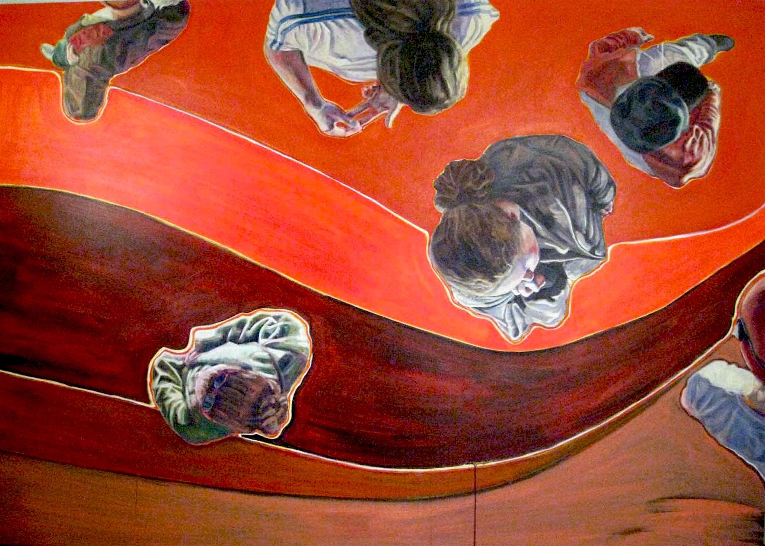 "Gathering #2  | acrylic on canvas | 72"" x 96"""