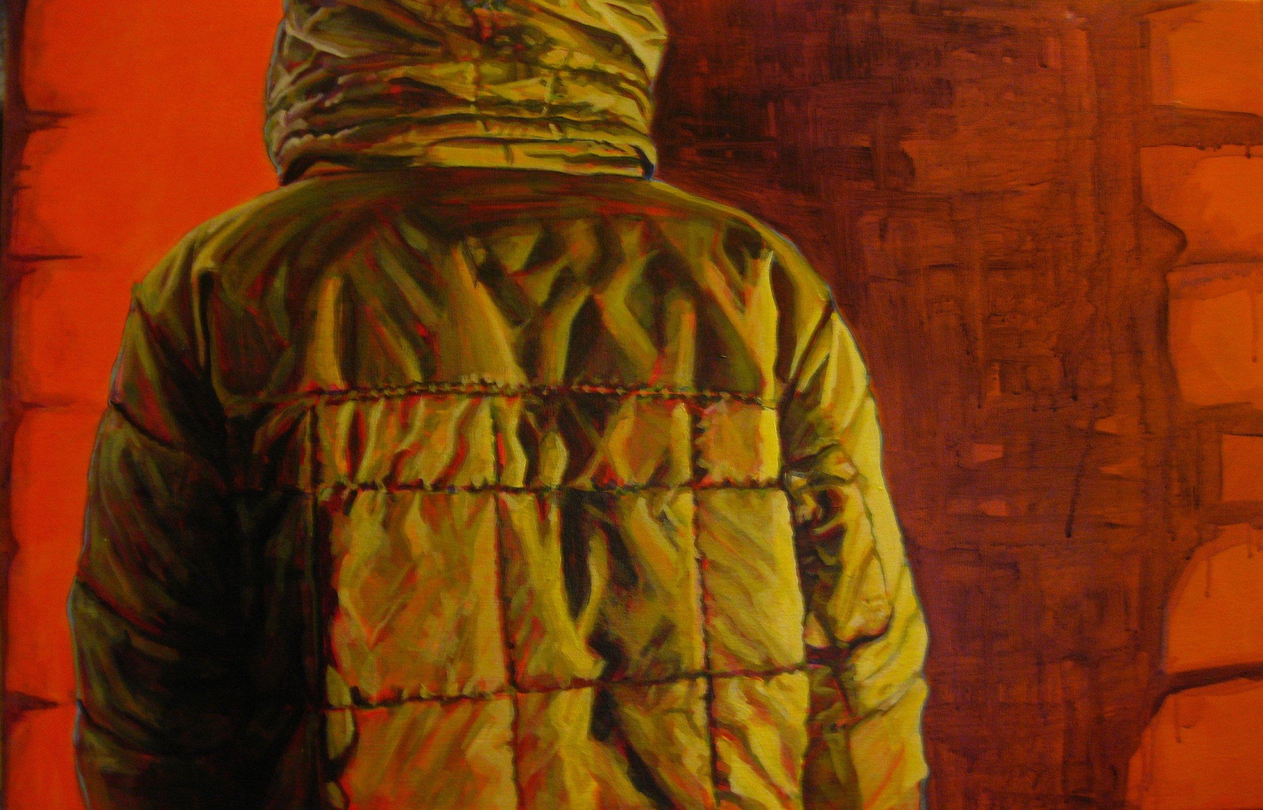 "Entitative Portrait #4    acrylic on canvas   24"" x 32""   (SOLD)"