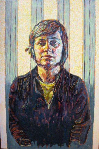 "Katherine 3  | acrylic on canvas | 36"" x 24"" | (SOLD)"