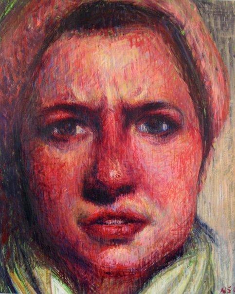 "Katherine 1  | acrylic on paper | 26"" x 20"""