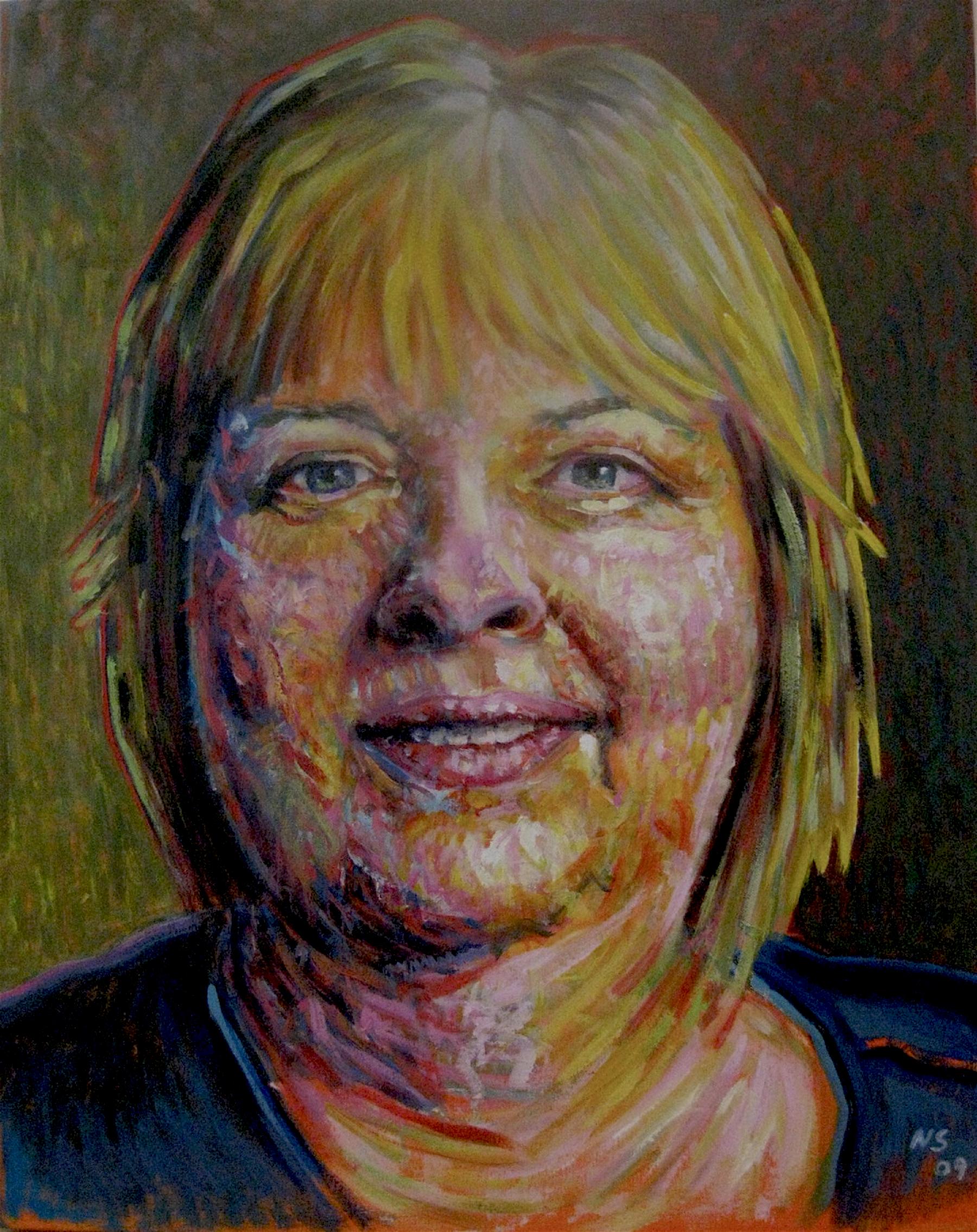 "Ginny #1  | acrylic on canvas | 24"" x 18"""
