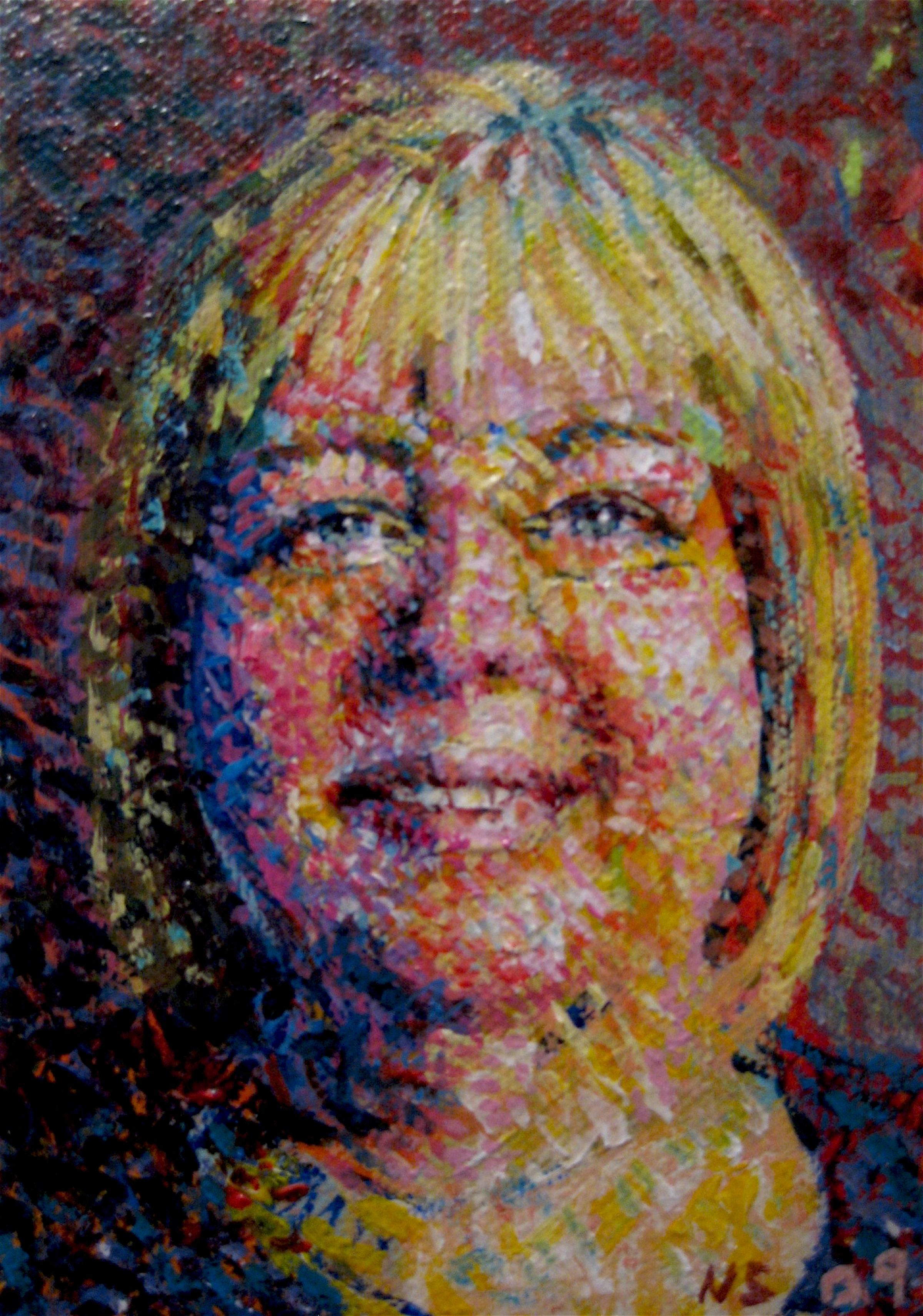 "Ginny #2  | acrylic on canvas | 6"" x 4"""