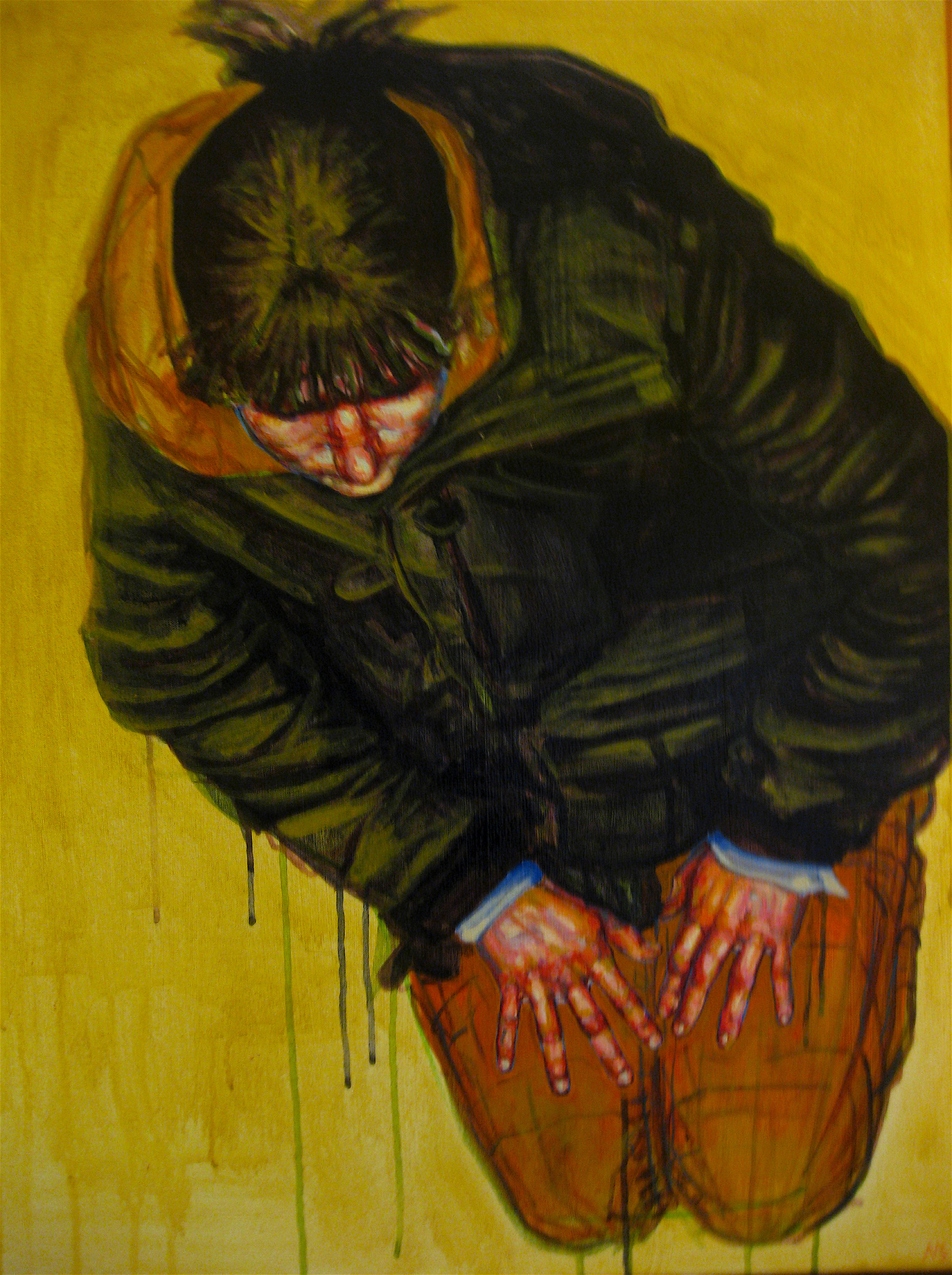 "Entitative Portrait #2    acrylic on canvas   36"" x 24""   (SOLD)"