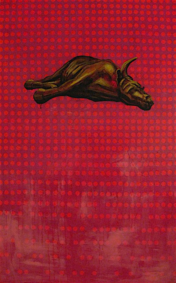"Hedge Fun  | acrylic on canvas | 60"" x 24"" | (SOLD)"