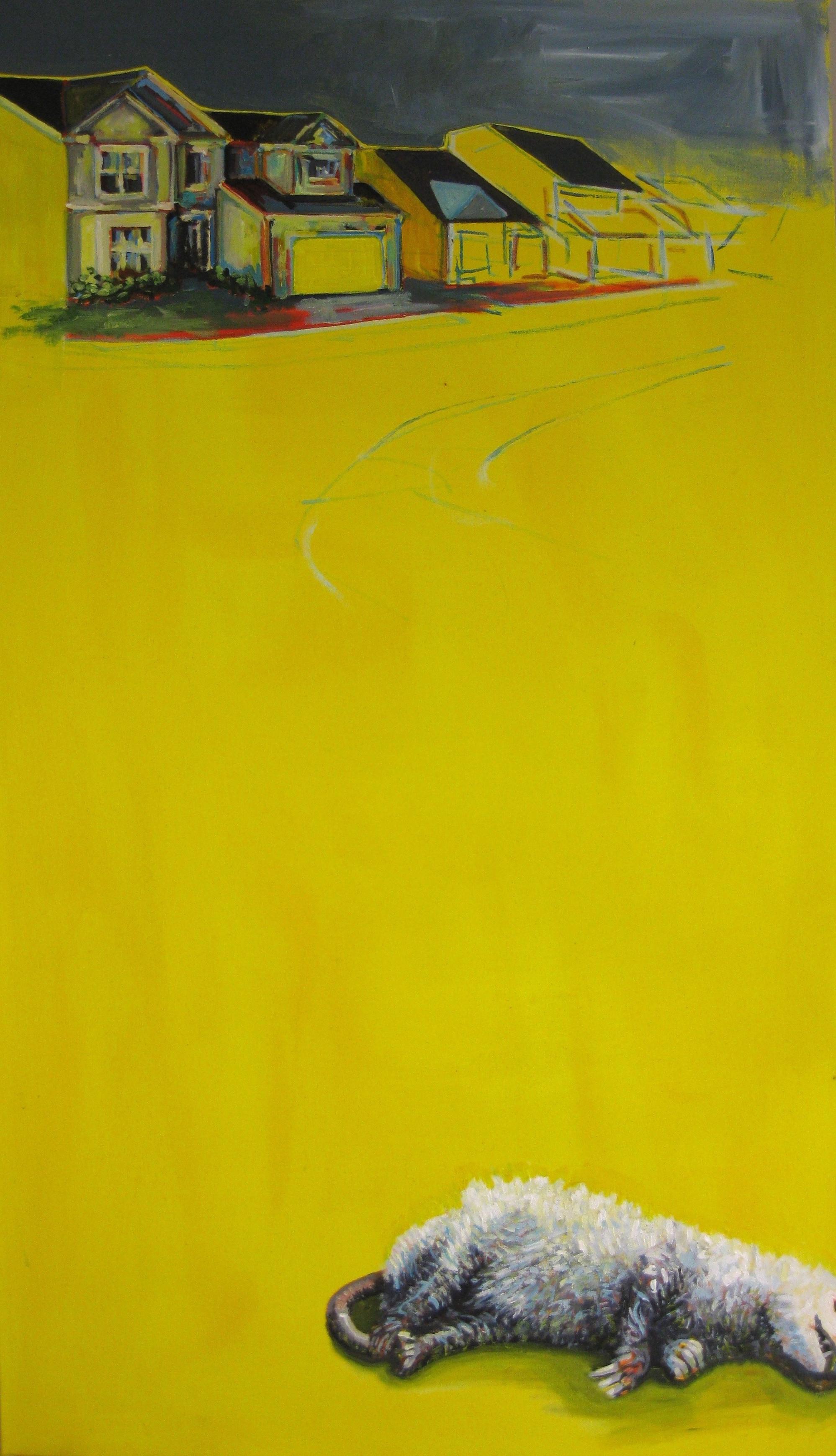 "Marbella Pl.  | acrylic on canvas | 50"" x 24"" | (SOLD)"